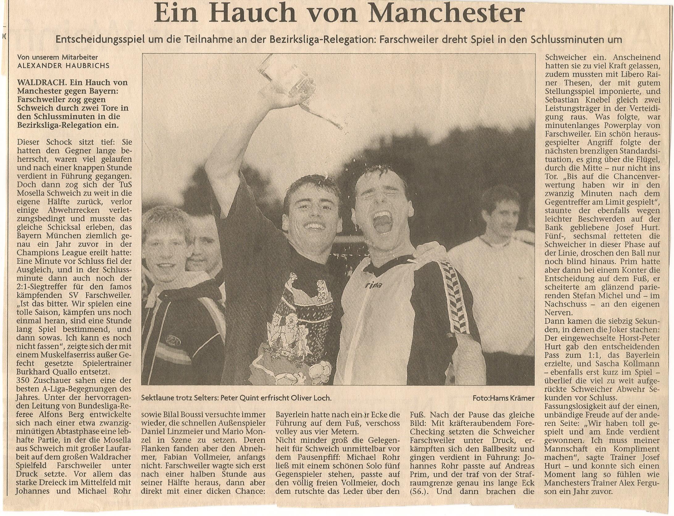 Ein Hauch von Manchester SV Farschweiler