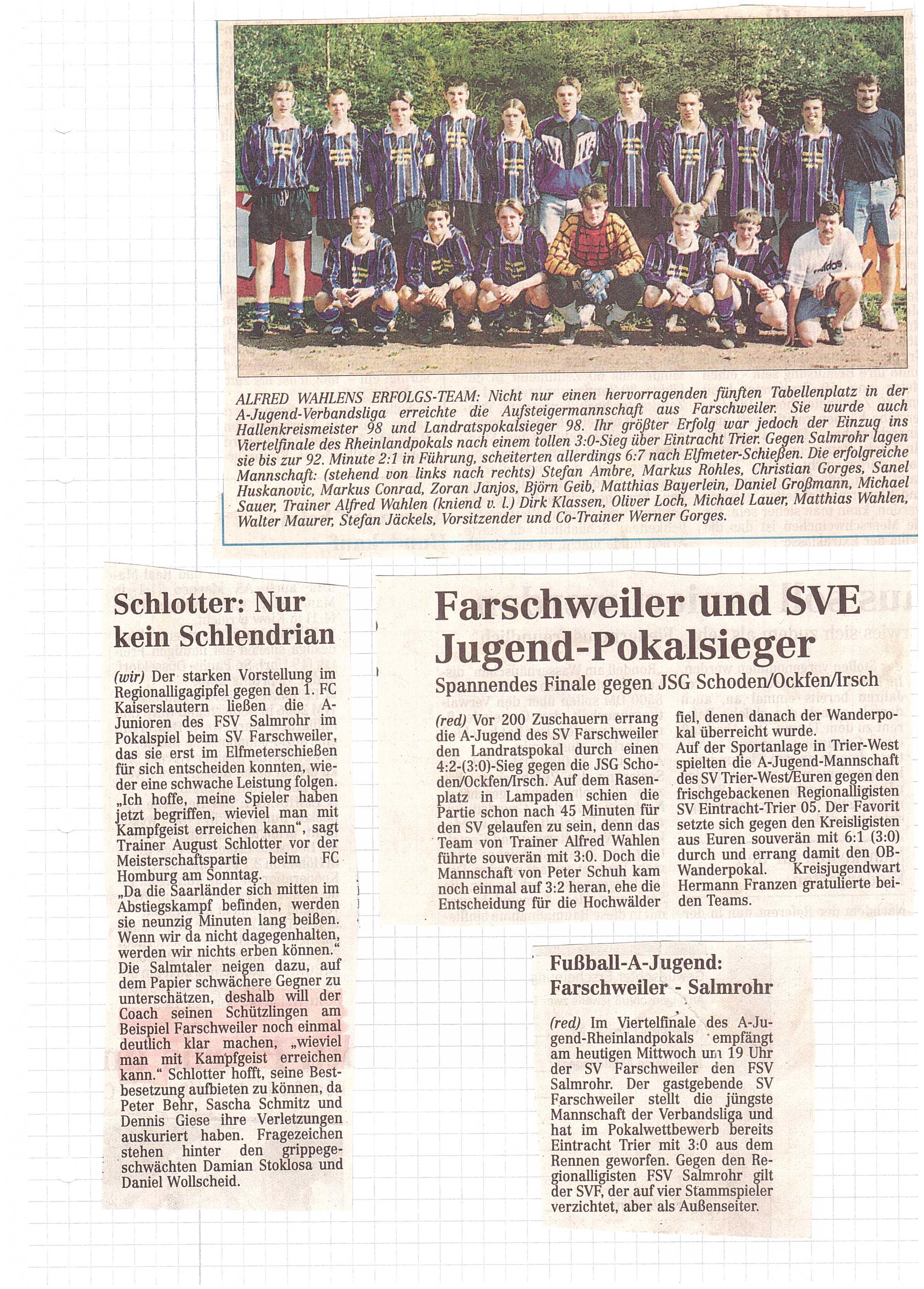A-Jugend 1996 SV Farschweiler